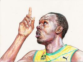 Usain Bolt by Pevansy