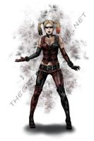 Harley Quinn Arkham City Print by danecypel