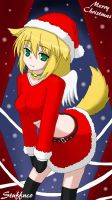 Christmas Neko by Stuffnco