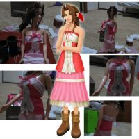 Aerith Barbie- Shirt Finished by Lil-IBeatSephy