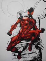 Kaine, Scarlet Spider - Color WIP by ZackFairDP96