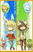 T and B- bookmarks by Evil-usagi