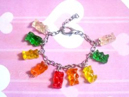 Gumy Bear Charm Bracelet by Cryssy-miu