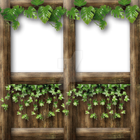 Half wall with top frame vine and ivy by Spyderwitch