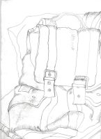 poor backpack contour drawing by ThawedIceMan