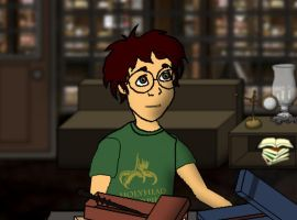Young James and his HH shirt by nanietta