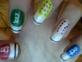 Converse Shoes Nail Art by Allergria