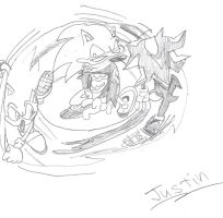 Justin- Sonic Shadow SCOURGE?? by SonicXfan007