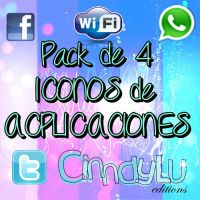 Pack de 4 Iconos PNG by CinndyLu