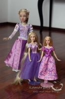 My Rapunzel dolls by kamarza