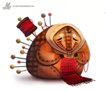 Daily Painting #919 - Porcupine Granny by Cryptid-Creations