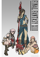 Girls of FFXIII - Colour by calicoJill