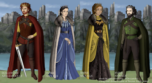 The Founders of Hogwarts by AesuithielSilver