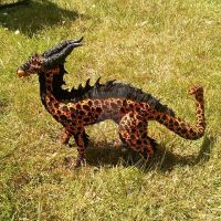 ooak handmade volcanic dragon artdoll by DragonForge311088