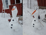 Olaf - The actual life size snowman by Myrling