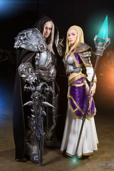 Arthas and Jaina cosplay by Narga-Lifestream