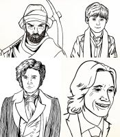 OUaT Character Lineart set 1 by HollyRoseBriar