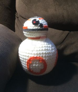 BB8 inspired plush (commission) by YarnAlchemy