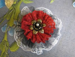 Steampunk Hair Barrette red by bcainspirations