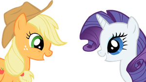 Rarity and Apple Jack vector by Zoiby