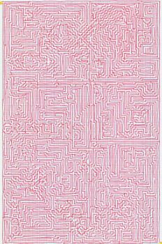 Red Maze by pipilo