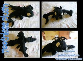 Toothless Plushie by chameron