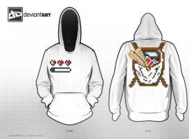 Dead Sea Scroll 8-Bit Hoodie by zenith0014