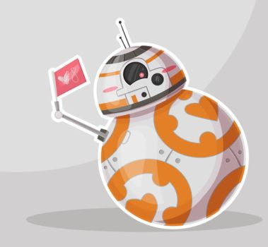 BB8 Valentine Fan Art by dikka