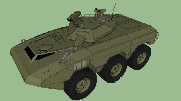 Wombat 6x6 IFV by Andywerk