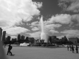 Chicago Fountain 2 by simpspin