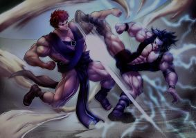 Sasuke Vs. Gaara by Felsus by Blitz-K