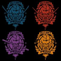 Mutant and Proud (4 versions) by Design-By-Humans