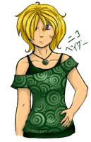Green Swirly Shirt by nekochan828