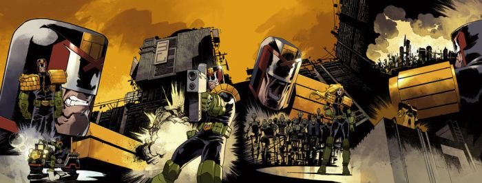 Judge Dredd connected covers #9-12 by nelsondaniel