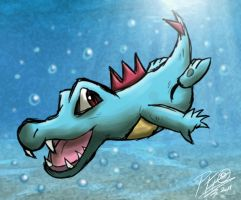 Pkmn Meme - Day 11 - Totodile by Patrick-Theater
