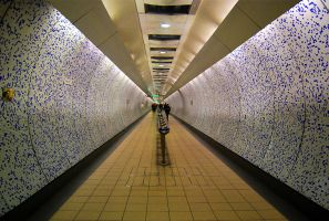 LONDON UNDERGROUND CORRIDOR by ANOZER