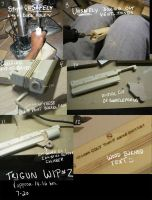 Trigun- Vash's gun WIP no.2 by fevereon