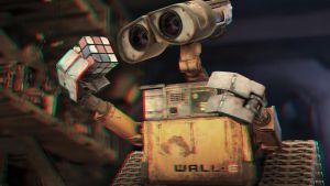 Wall-E's Cube 3-D conversion by MVRamsey