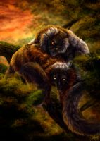 Lemurs by WolfRoad