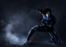 Nightwing by radioactivated