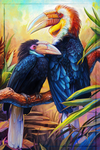 Wreathed Hornbills by charfade