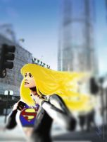 Flight of the Supergirl by theflamingskull