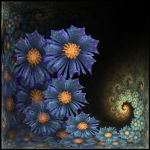 Blue Flowers by allthenightlong