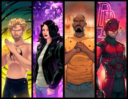 Marvel Netflix Panel Grouping 2 by RichBernatovech