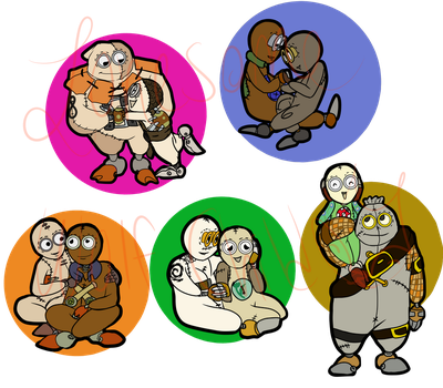 9 Chibi couples by lonesome-wolf-child