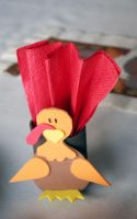Turkey Napkin Holder by theshaggyturtle