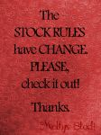 Stock Rules have CHANGE by Meltys-stock