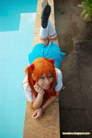 Asuka at the pool by plu-moon