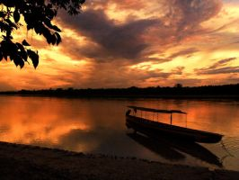 Napo River Sunset by AfroDitee