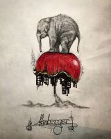 Elephant vs mankind  by almberger